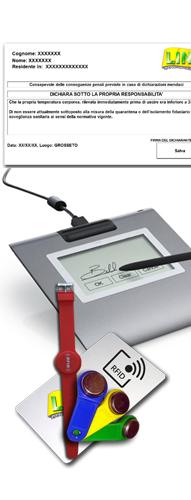 Sistema per l'Autodichiarazione con Firma Grafometrica